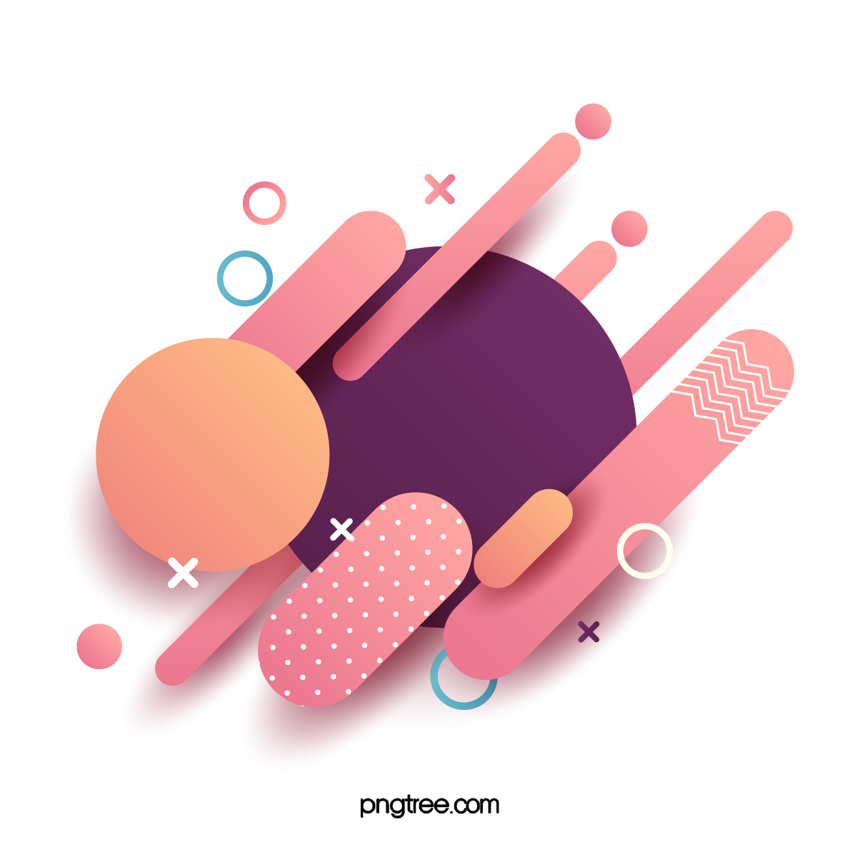—Pngtree—abstract minimalistic geometric layered border_4975036